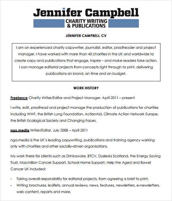 Sample Resume Freelance Writer. Resume Sample Gallery For