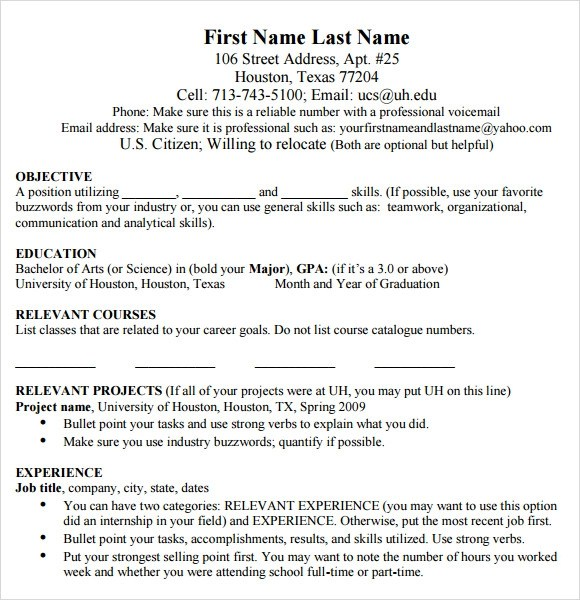 mba resume template pdf