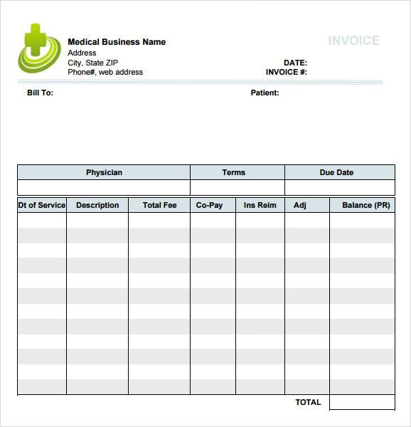 Bill Invoice Template service bill template invoice templates – Service Billing Invoice Template