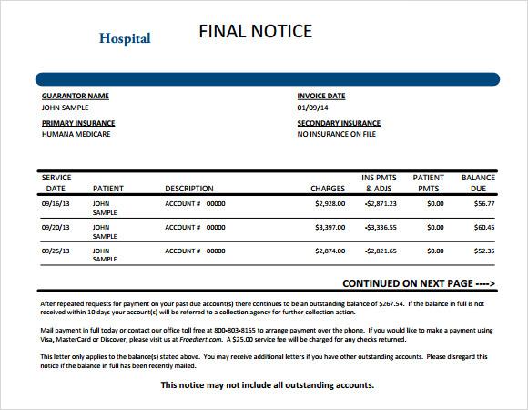hospital invoice template word design invoice template epayment – Hospital Invoice Template