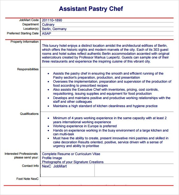 Pastry Chef Resumes. Cover Resume Examples Cover Resume Examples