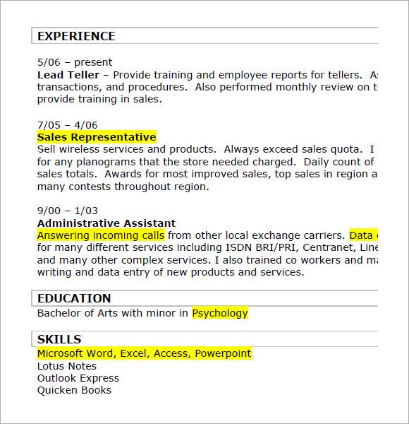 Salesman Resume Sample Pdf  sales and marketing manager