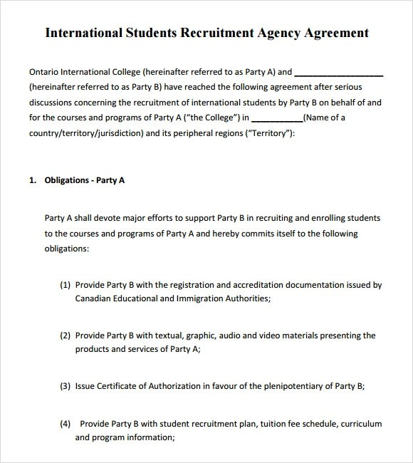 Free 12 Agency Agreement Templates In Google Docs Ms Word
