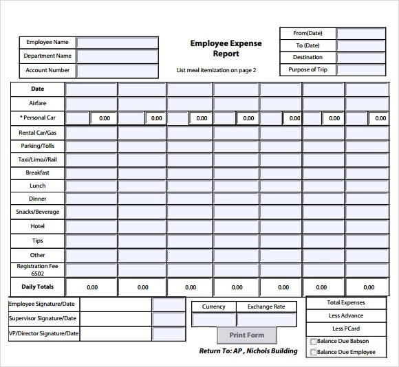 Weekly Expense Report Template expense tracking template tracking – Weekly Expense Report Template