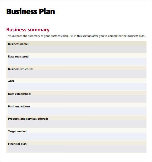 Sba Business Plan Template. free business plan template pdf le ...