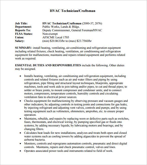 resume sample hvac technician school hvac hvac tech resume sample