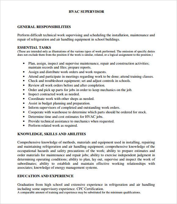 hvac resume summary hvac resume samplehvac resume hvac tech