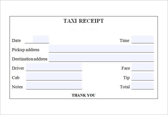 receipt forms templates