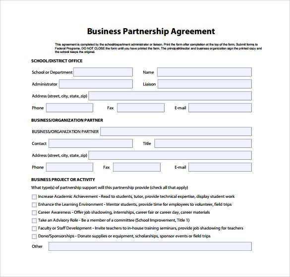 Template For Partnership Agreement Archives Example Partnership