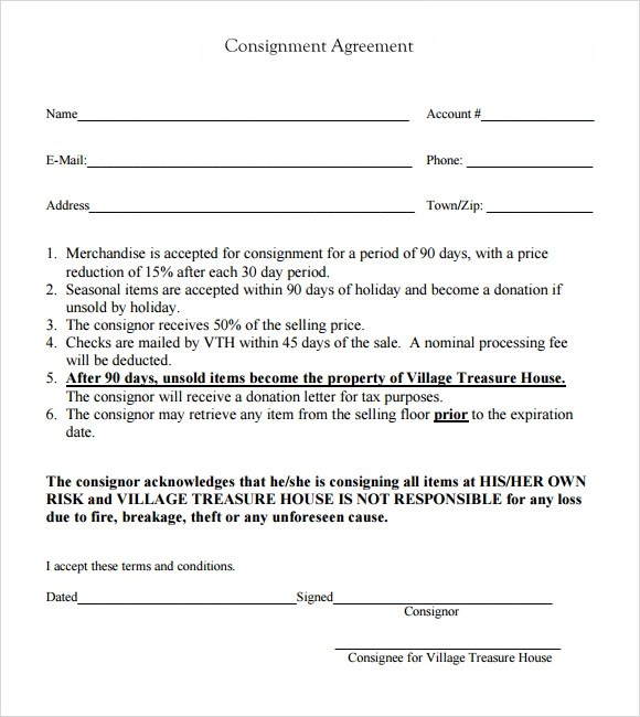 consignment agreement 10 download documents in pdf word 10 – Free Consignment Agreement