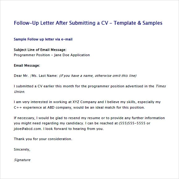 what are the steps of writing a follow up email