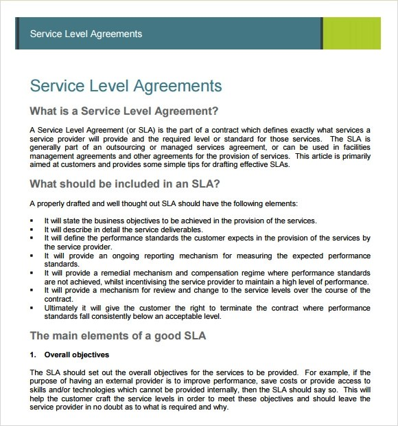 sample service agreement 7 example format free contract templates – Format of Service Agreement