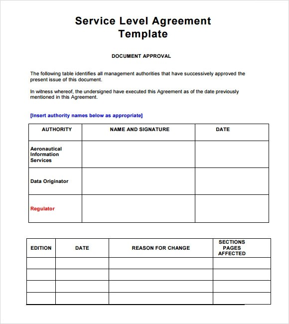 Service Agreement Templates. Letter Of Agreement 14 Download Free