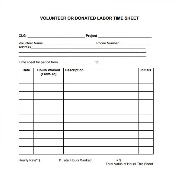 volunteer schedule template 8 free word excel pdf format. best ...