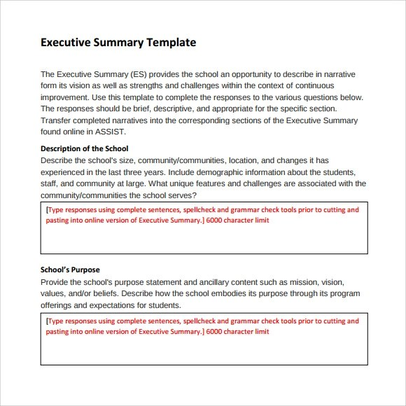 Template Of Executive Summary retail store business plan – Free Executive Summary Template