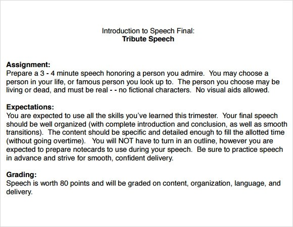Examples Of Tribute Speech Topics – ipenin47 site