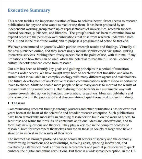 effective summary example executive example of executive summary – Example Executive Summary Report