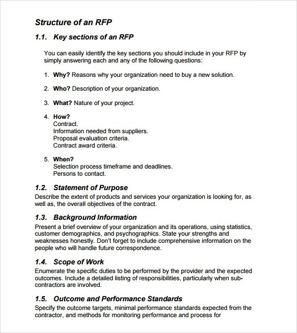 Rfp Template Pdf Besttemplate123 Rfp Template Development Doc Doc