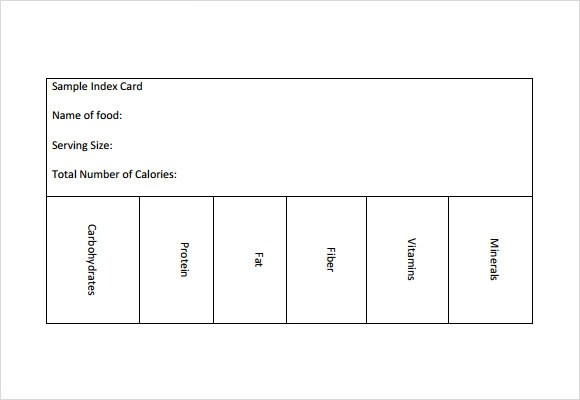 Blank Index Card Template. blank planner page 3 x 5 index card ...