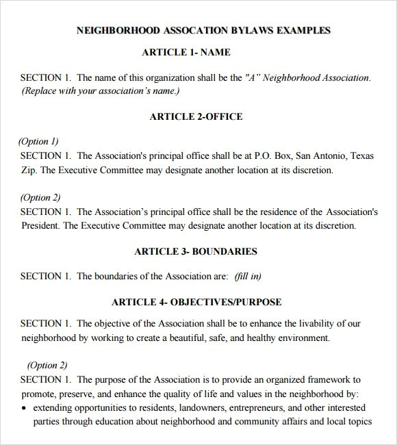 Bylaws Templates sample bylaws template free download corporate – Bylaws Templates