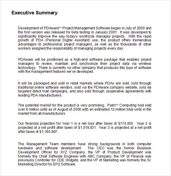 Executive Summary Resume Example. Executive Summary Resume Writing