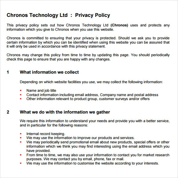 Template Policy Security Data Sample
