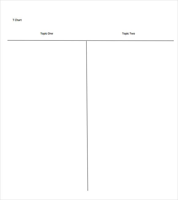 T Chart Templates sample 7 documents in pdf word of blank t – T-chart Example