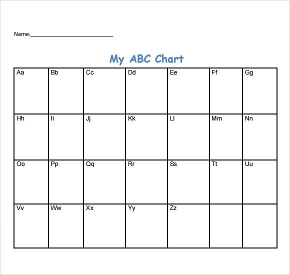 sample abc chart 7 free documents download in pdf. cursive writing ...