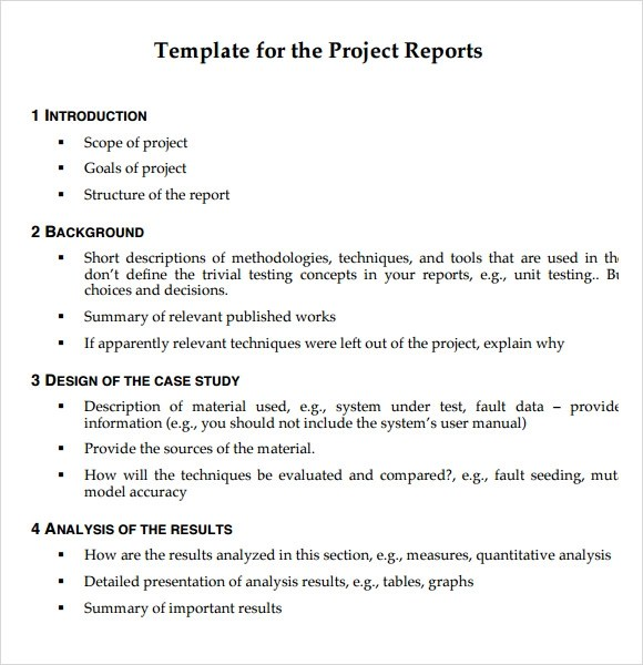 Cover letter of project report