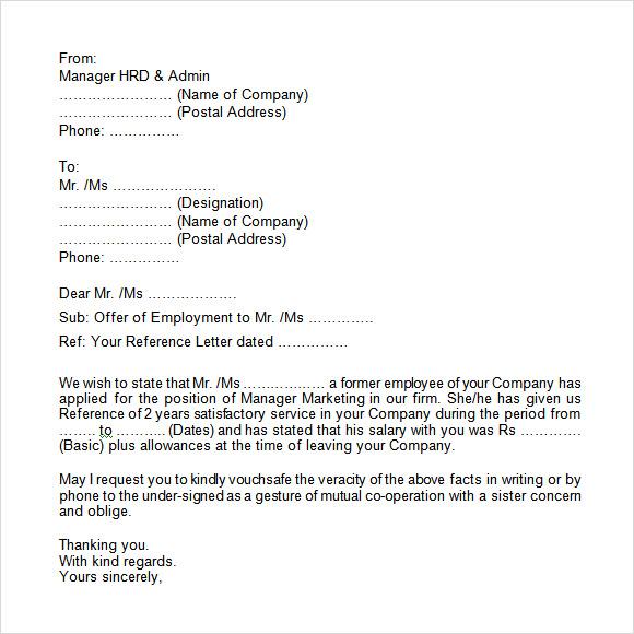 Template For Employment Verification. employment verification form ...