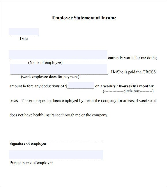 Income Verification Letter From Employer Sample | Docoments Ojazlink