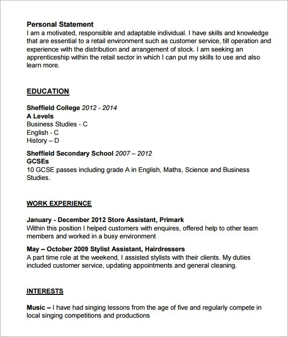Sample Cv Template Pdf. New Curriculum Vitae Format Pdf Cover