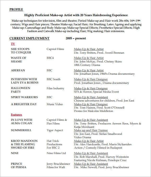 Hairdresser Resume Examples. Photos Hairdresser And Hair Stylist