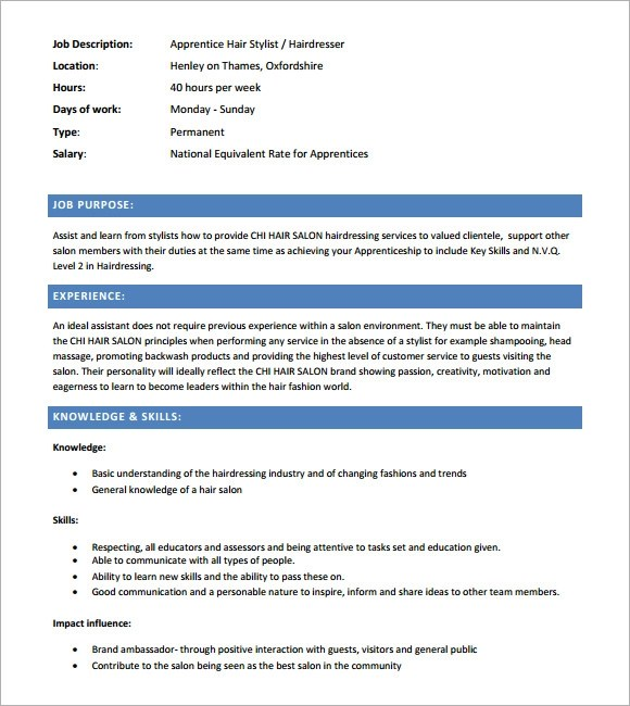 Free Hair Stylist Resume Templates  Resume Sample