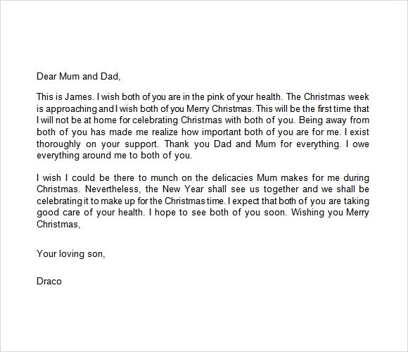 Sample Christmas Letter 24 Documents In PDF Word