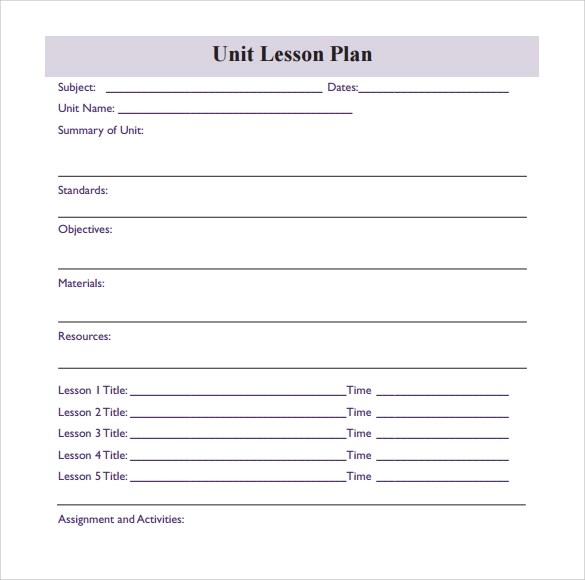unit plan template 11 download documents in pdf word. siop unit ...