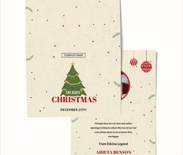 Christmas Bonus Thank You Card Template