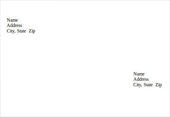 Envelope Word Template 5 free envelope templates for microsoft – Sample Business Envelope Template