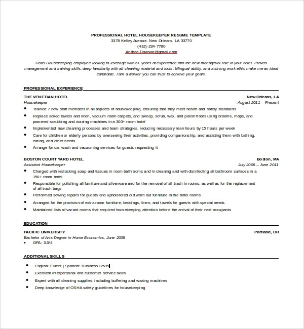 Housekeeping Resumes. Truck Driver Resume Sample And Tips Resume