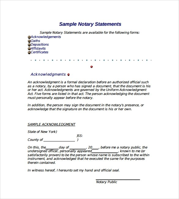 Notarized Document Template. legal pinterest. power of attorney ...