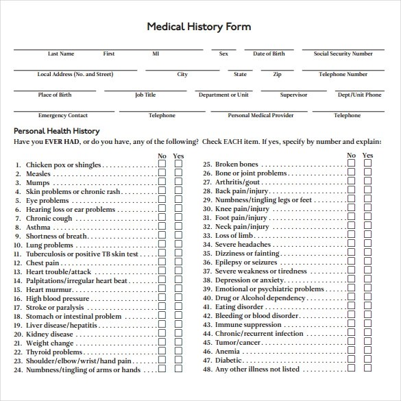 Detailed emergency contact form printable medical form, free to.
