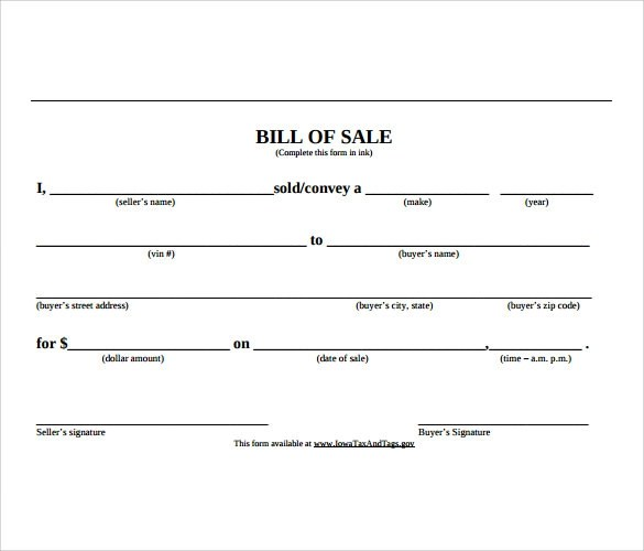 word doc word template bill of sale bill of lading template word ...