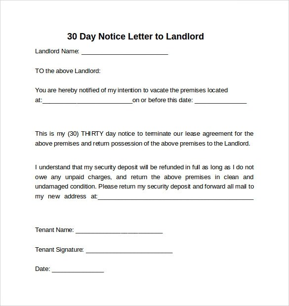 pin of reduced hours to employee pdf on pinterest 30 day notice – Eviction Notice Letter Free Download