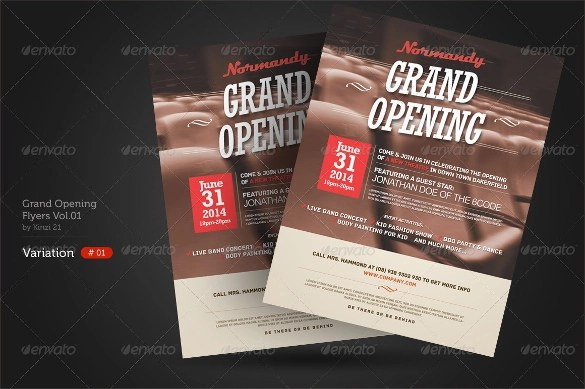 28 Grand Opening Flyer Templates To Download Sample Templates