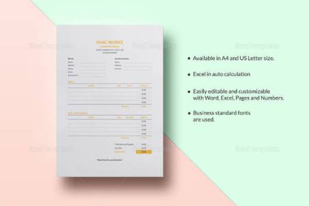 14 HVAC Invoice Templates to Download for Free   Sample Templates Sample HVAC Invoice Template