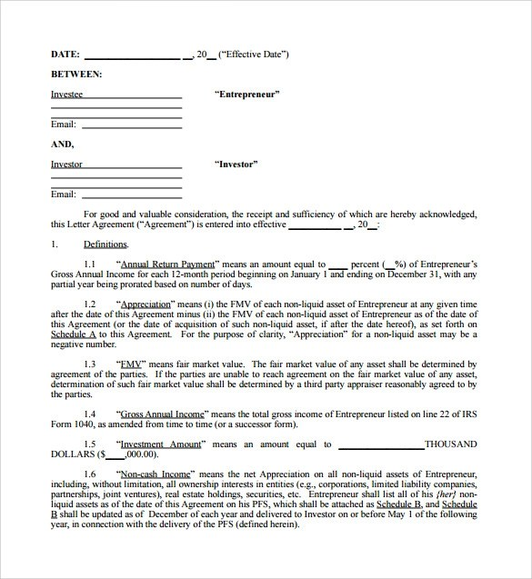 Investment Contract Template 10 microsoft word contract templates – Simple Investment Contract Template
