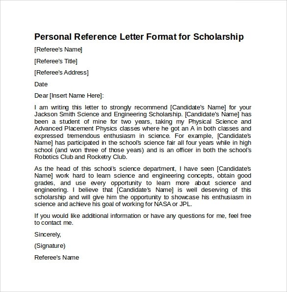 Letter Recommendation Examples