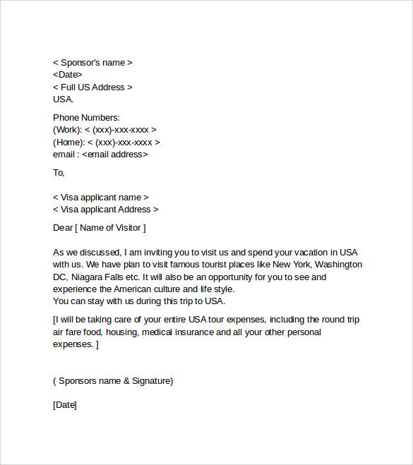 Letter Of Employment For Visa Uk