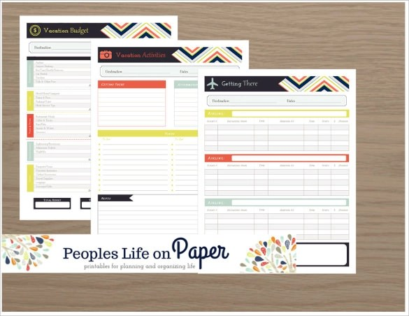 Travel Budget Planner Template  ms word business trip