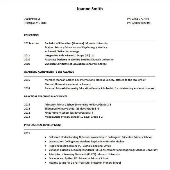 sample tutor resume template 7 free sample examples formats